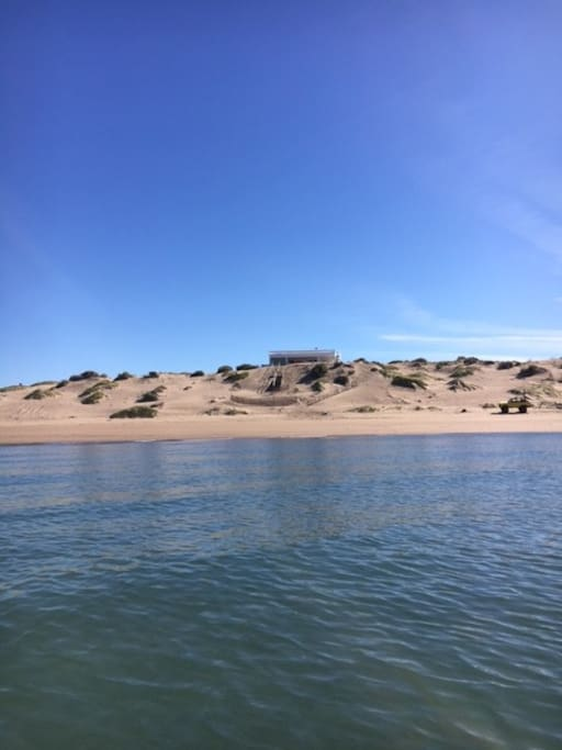 House photo from the water, direct beachfront!