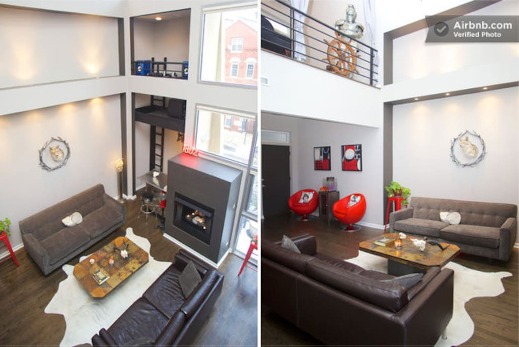 A dual view of the living area