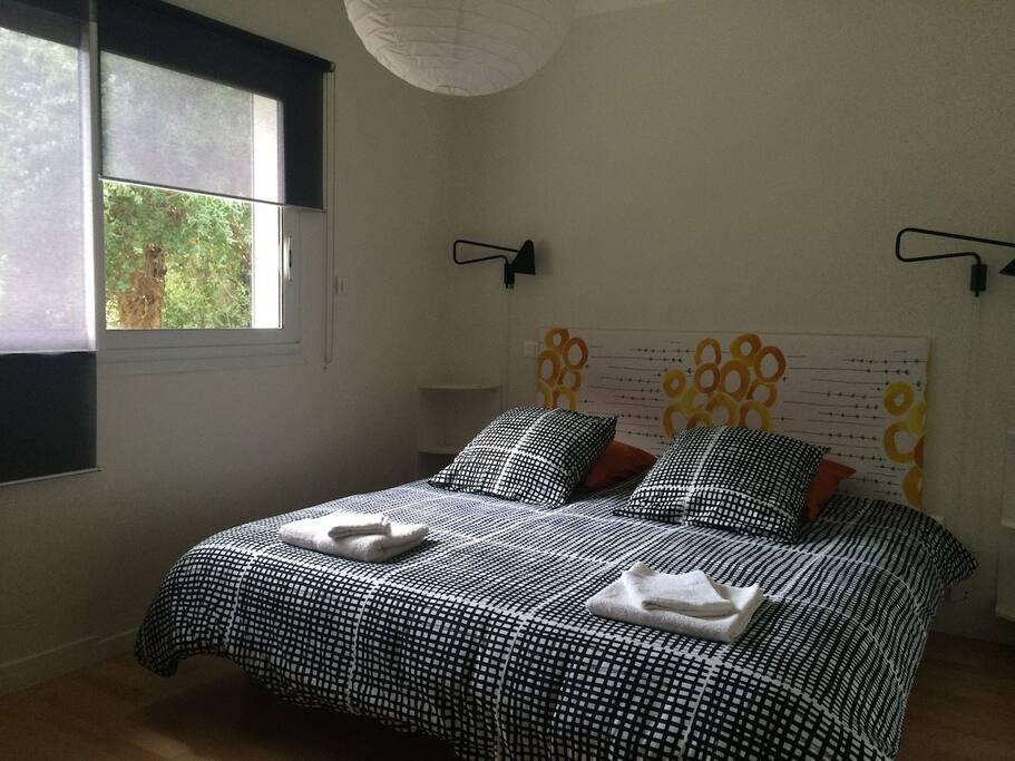 Chambre 2x90 séparables