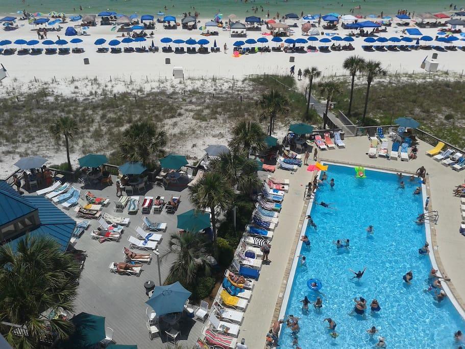 Peak season can get busy at this very popular resort