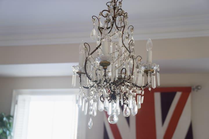 Bedroom antique French chandelier