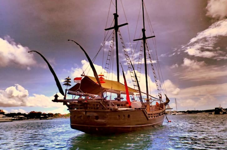 Entire Real Authentic Pirate Boat in the Gilis