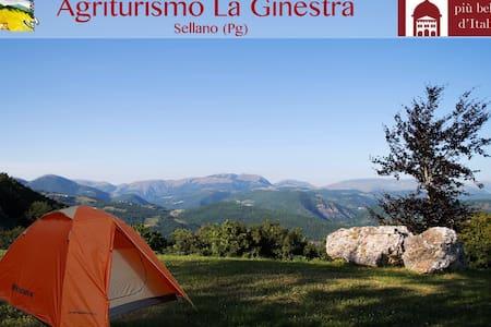 Prato con panorama e piscina - Sterpare - 帐篷