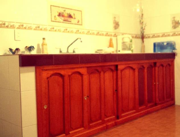 Cocina: ¡Amplia, cómoda y muy bonita! (Área en común)