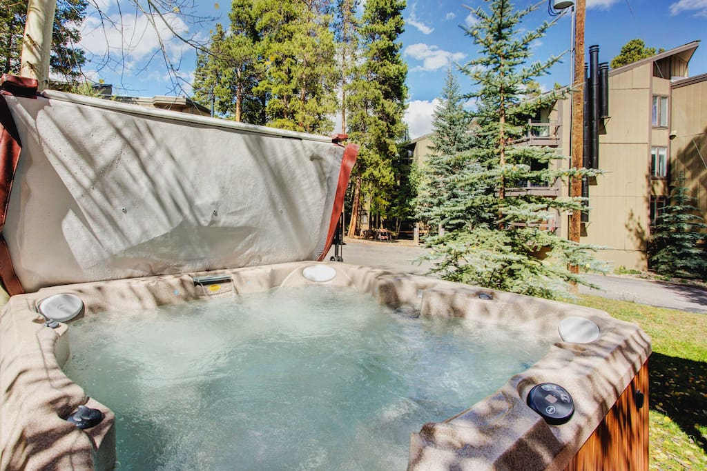 Your worries will melt away as you soak in the private Jacuzzi hot tub.