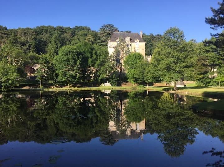 Un gîte 13 personnes dépendances château Touraine