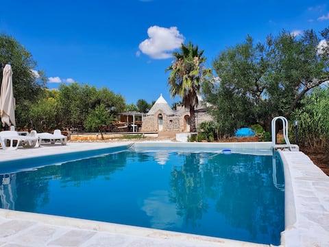 Trulli Marosa - Nature et piscine