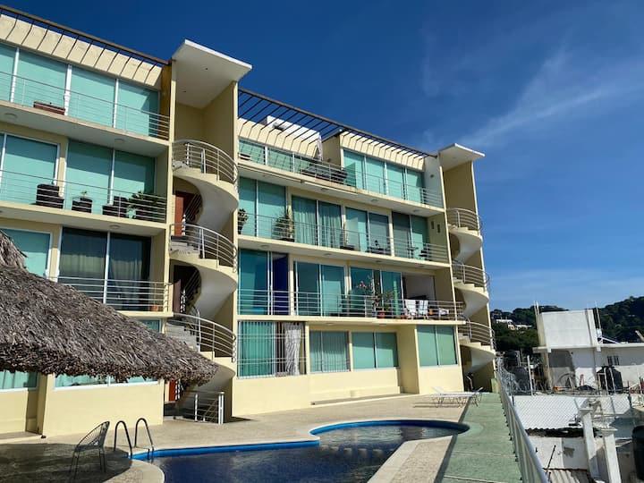 Increíble dpto en Acapulco c/alberca
