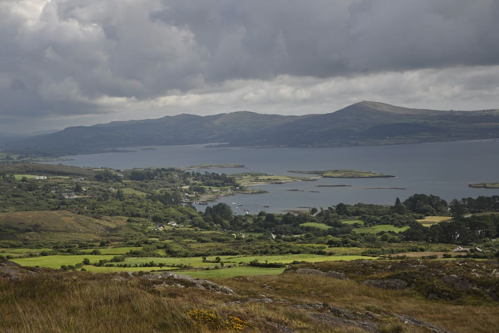View over dunmanus bay from the Goats Path on the Sheepshead Way Walk