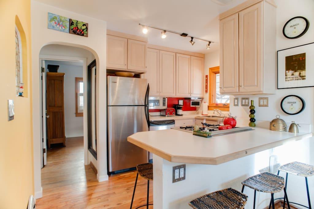 Open kitchen concept.