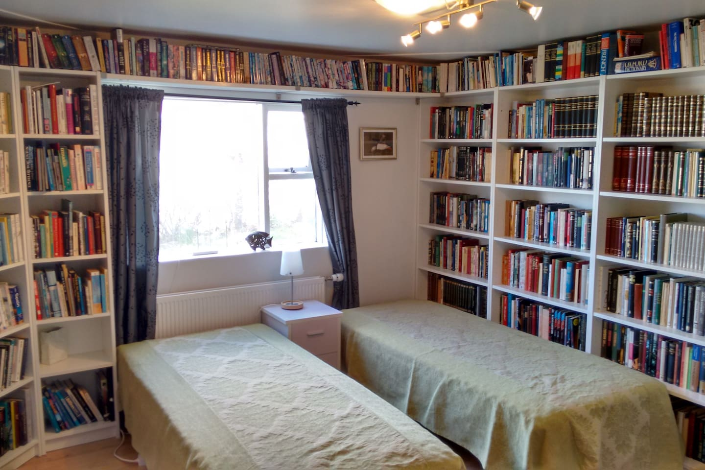Bedroom with a lot's of books