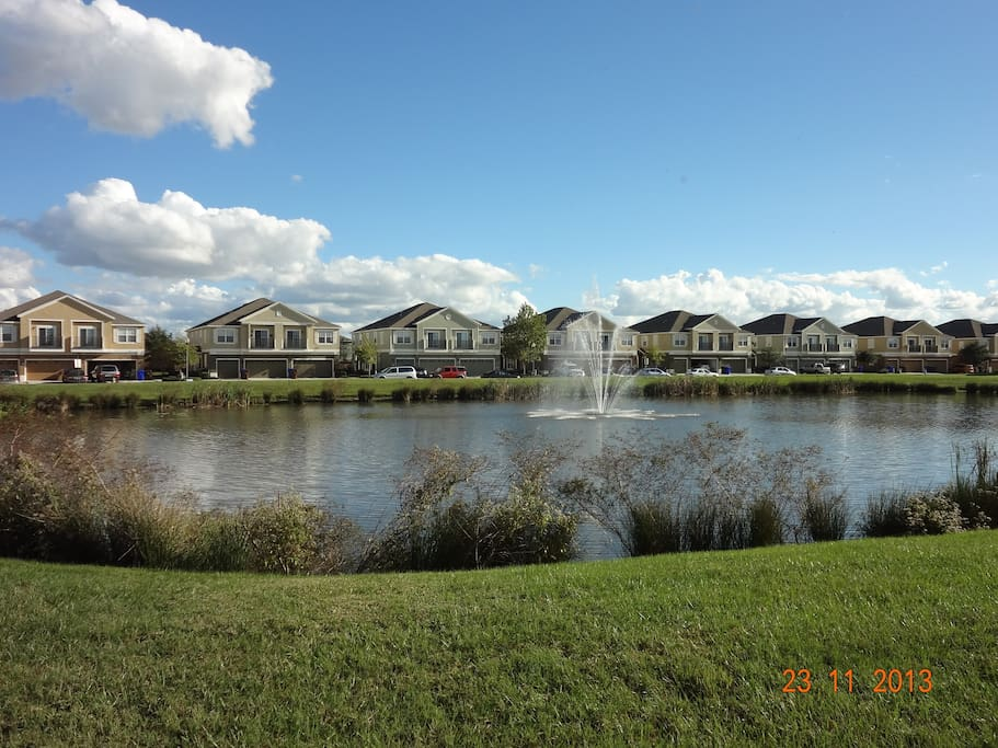 Estancia is a gated community with a lake.