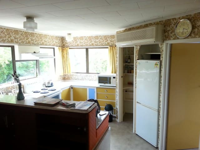 Lovely bright sunny kitchen with all mod cons inclusive of dishwasher