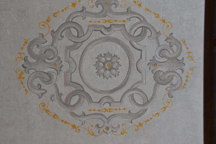 original fresco from eighteenth century in a main sleeping room