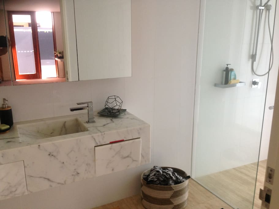 Private ensuite with toilet and shower