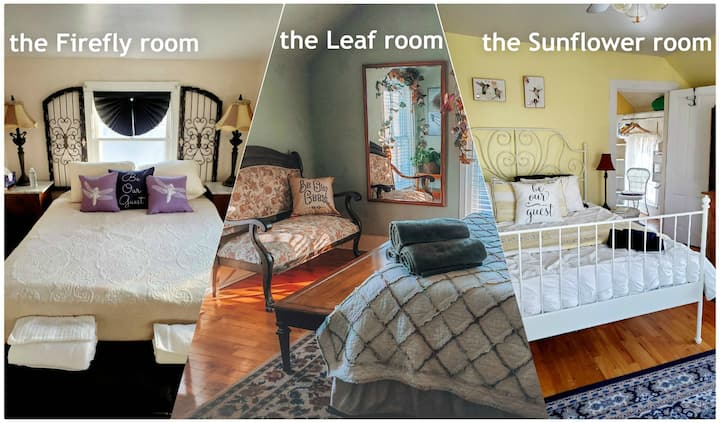 the Leaf room at rooms2stay™