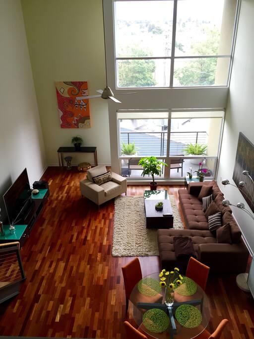 View from loft/bedroom