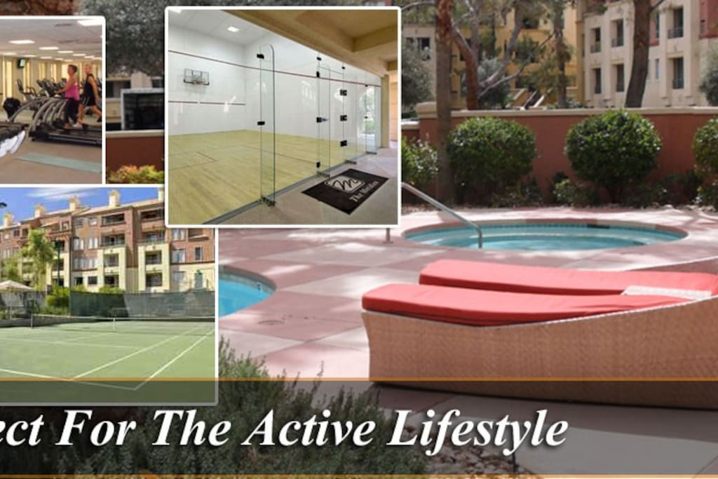24/7 Access to gym, sauna, pool, hot tub, outdoor grills, basketball court & tennis courts!