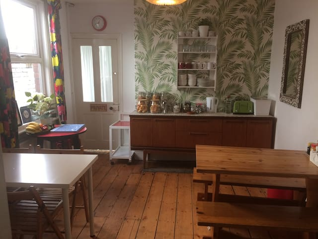 Large sunny Southville Period House opposite Park