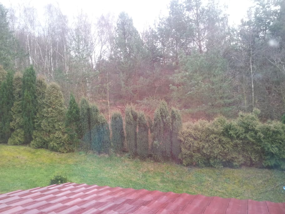 View from second bedroom and wintergarden