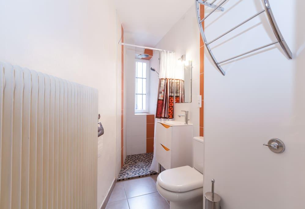 Salle de bain, avec sèche cheveux