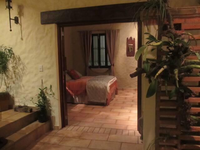 the entrance to the Courtyard Suite