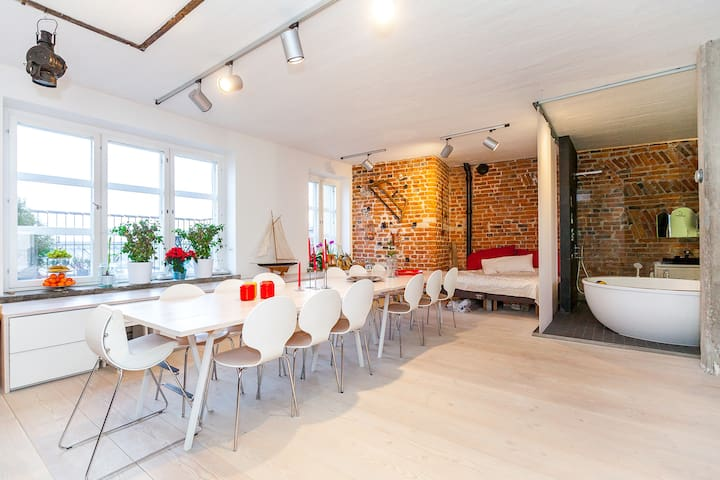 Amazing loft 132 sqm in old factory