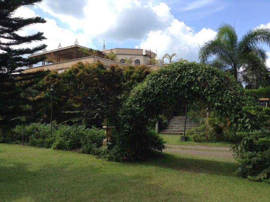 View of the house from the neighboring garden