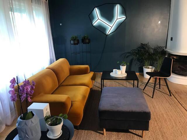 Fin, stor og sjarmerende ferie leilighet på Lund.