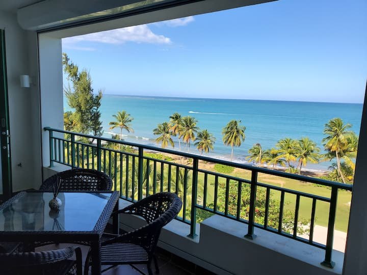 Beachfront Rio Mar Golf Apt with Spectacular View