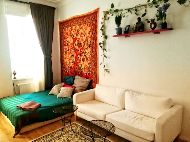 Cosy flat extremely well connected in lively area