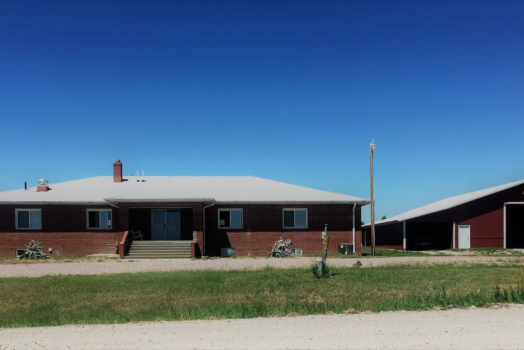 Rooster Junction was previously a school house before it was remodeled into a hunting lodge.