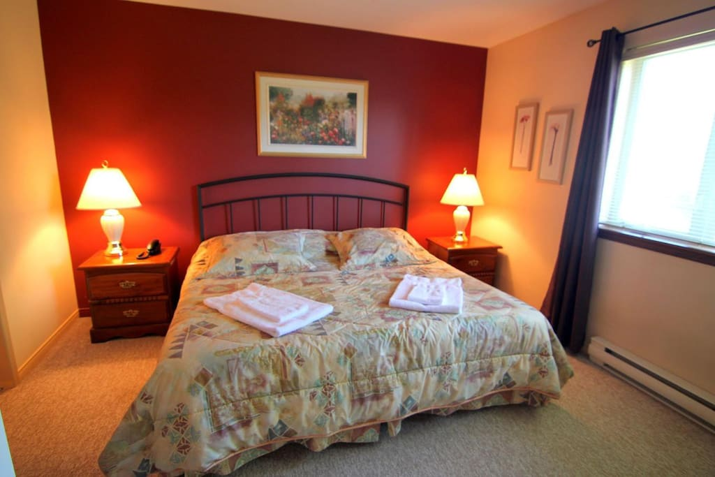 The master-bedroom with a spacious king size bed...