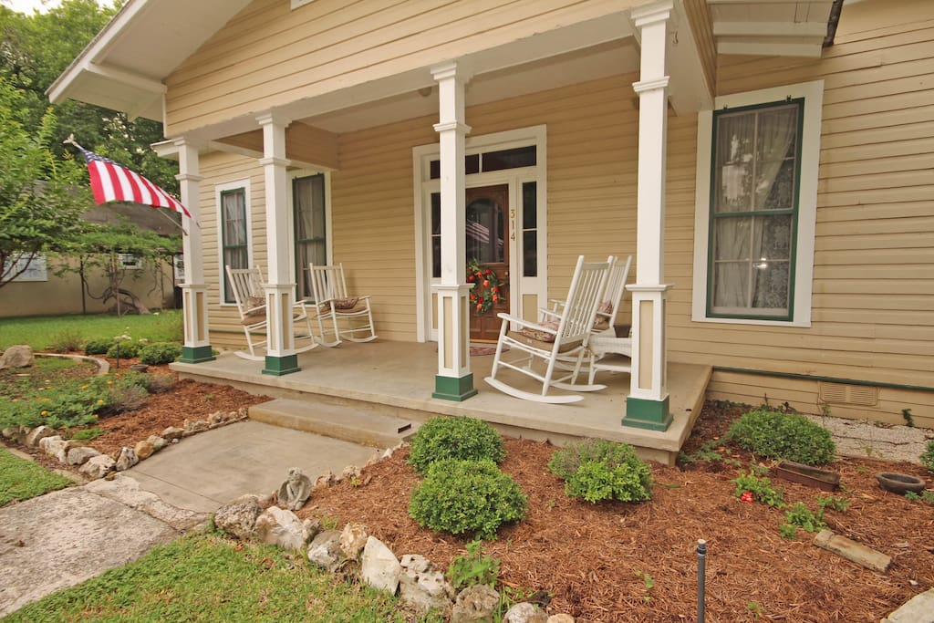 Large Front Porch with Comfortable Rockers
