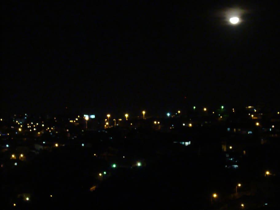 vista das janelas a noite