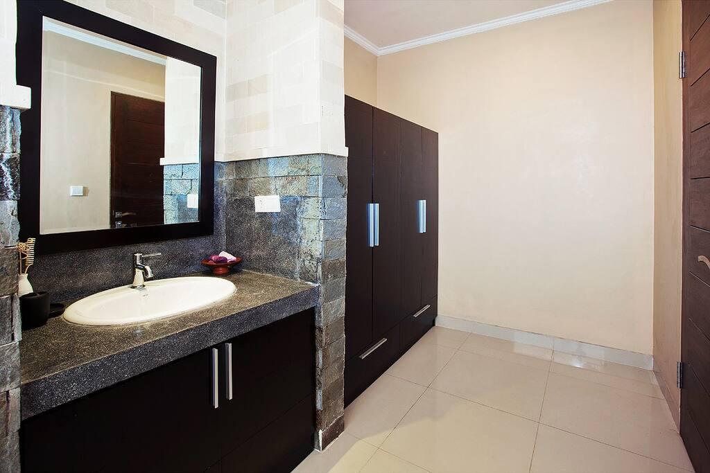 Bathroom with inbuilt cupboard