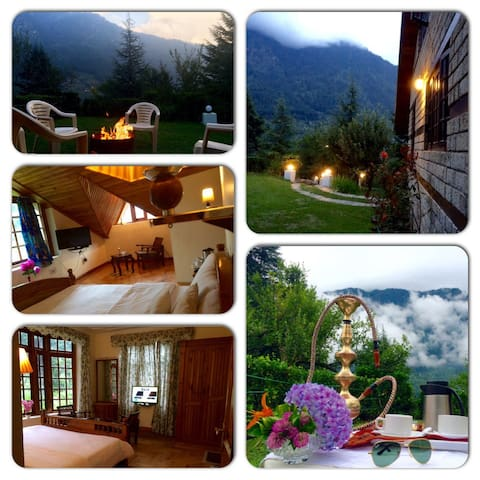 A BEAUTIFUL PRIVATE LUXURY SERVICE HOLIDAY VILLA - Manali - Bungalow