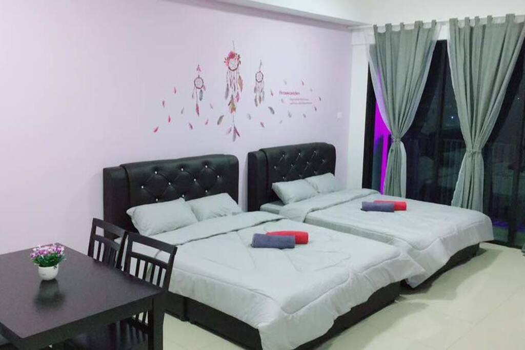 2Queen Bed