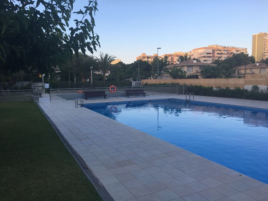 Two swiming pools, ( small pool for the little ones). Area always fenced for children security.