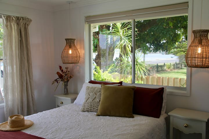 Master bedroom - river views from both windows:)
