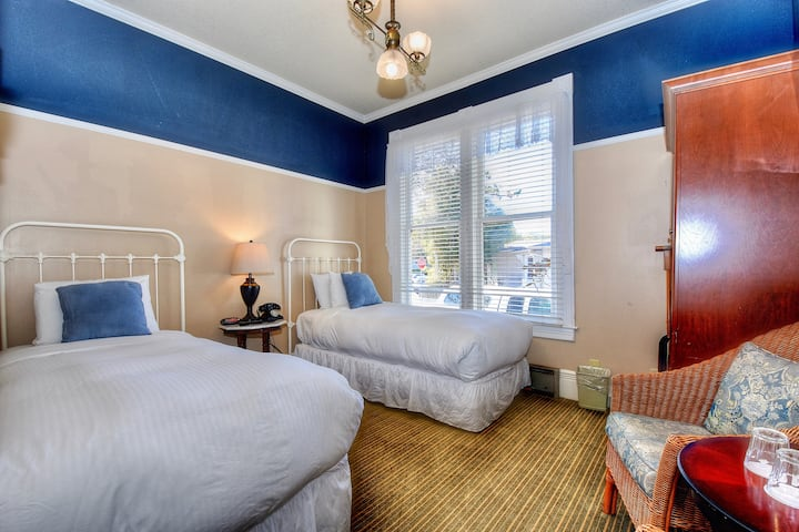 Two Twin beds in a National Historic Victorian Inn