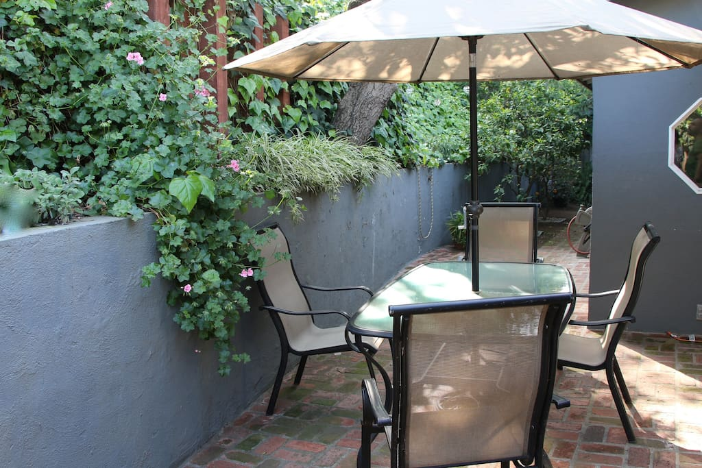 Back yard dining room