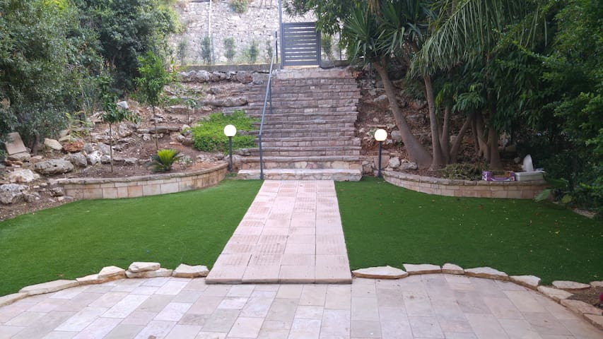 The vast beautiful private garden
