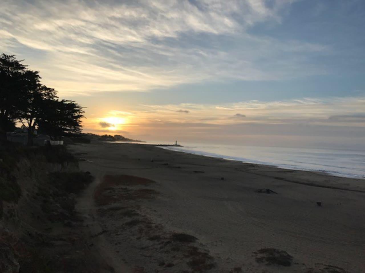Sunrise at Seabright Beach