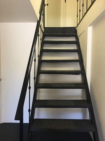 Easy to go upstairs where the room is located.