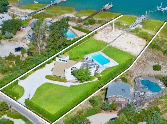 WATERFRONT SOUTHAMPTON HOUSE 1 MILE FROM US OPEN
