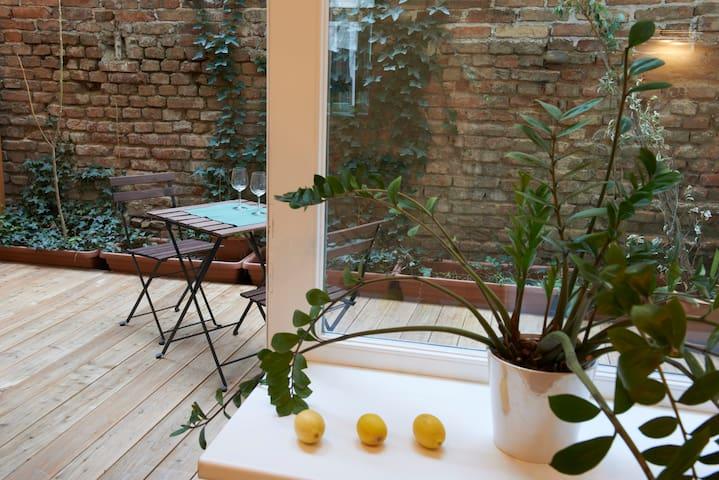 Calme, central et avec terrace