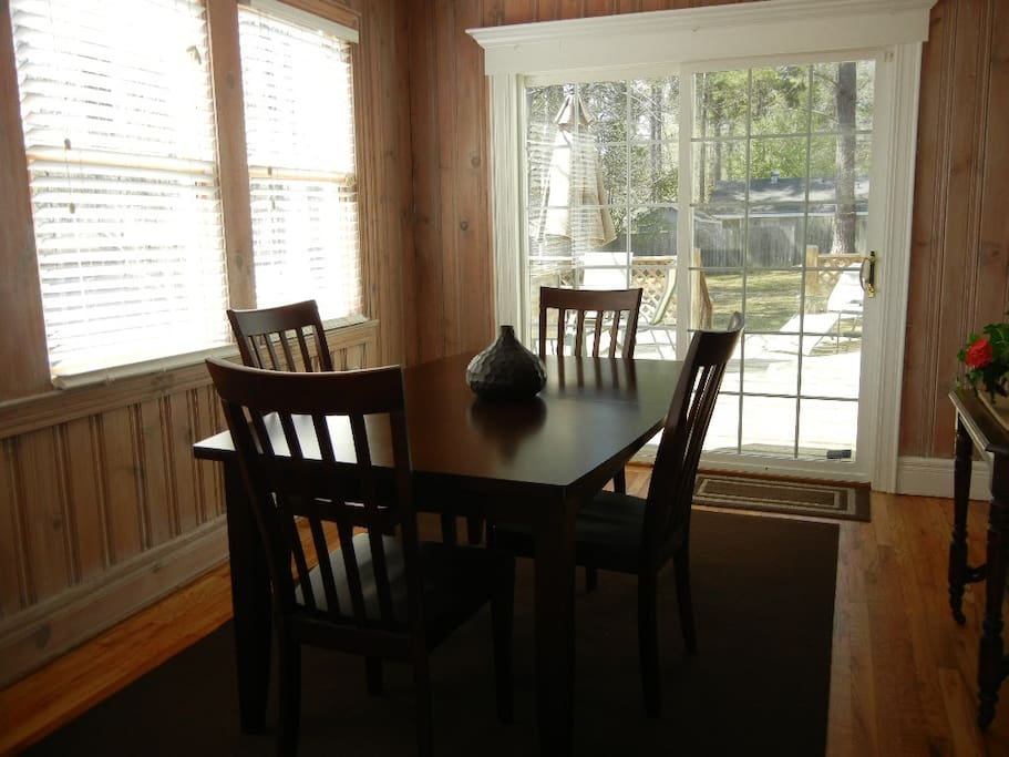 Dining Room opens onto large deck