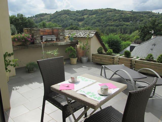 CHAMBRE DE 2 P ENTRE CONQUES ET RODEZ. - Saint-Cyprien-sur-Dourdou - Bed & Breakfast