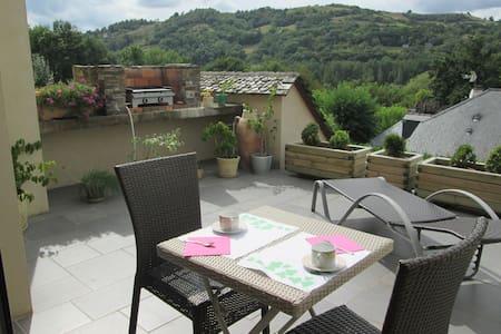 CHAMBRE DE 2 P ENTRE CONQUES ET RODEZ - Saint-Cyprien-sur-Dourdou